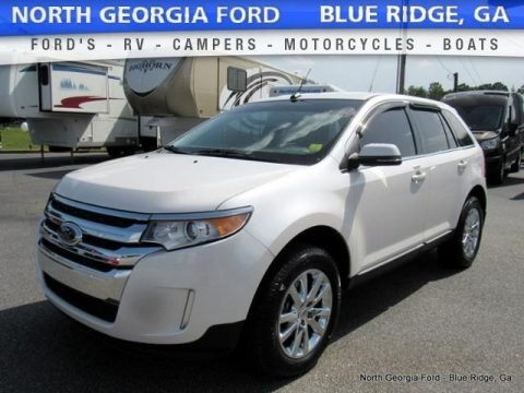 White Platinum 2014 Ford Edge Limited AWD