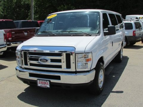 Oxford White 2011 Ford E Series Van E350 XL Extended Passenger