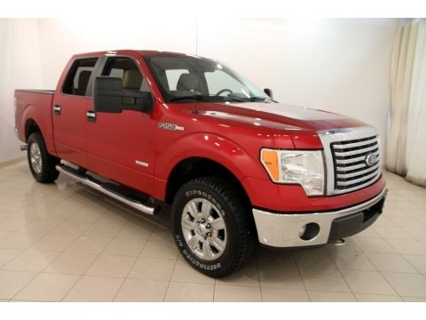 Red Candy Metallic 2011 Ford F150 XLT SuperCrew 4x4