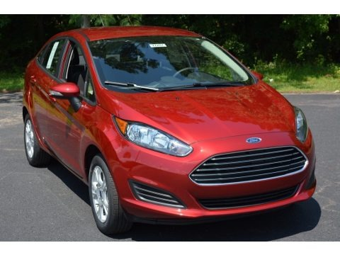 Ruby Red Metallic 2016 Ford Fiesta SE Sedan