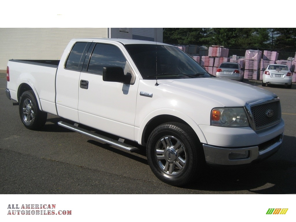 2004 ford f150 lariat supercab in oxford white b90851 all american automobiles buy. Black Bedroom Furniture Sets. Home Design Ideas