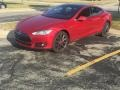Tesla Model S P85D Performance Red Multi-Coat photo #3