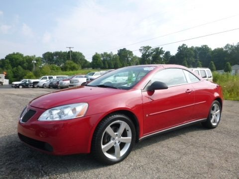Crimson Red 2006 Pontiac G6 GT Convertible