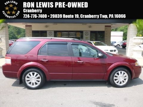 Merlot Metallic 2008 Ford Taurus X Limited AWD