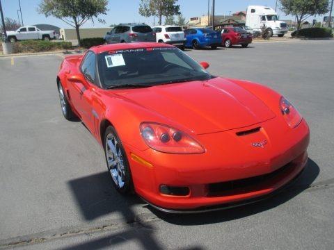 Inferno Orange Metallic 2013 Chevrolet Corvette Grand Sport Coupe