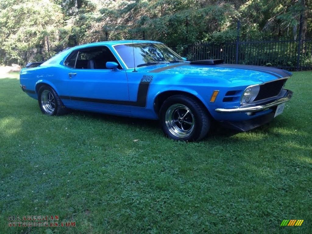 1970 Ford Mustang Boss 302 In Grabber Blue For Sale 172272 All Black