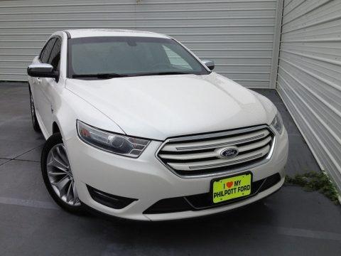 White Platinum 2014 Ford Taurus Limited