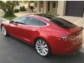 Tesla Model S P85D Performance Red Multi-Coat photo #4