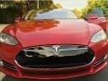 Tesla Model S P85D Performance Red Multi-Coat photo #14