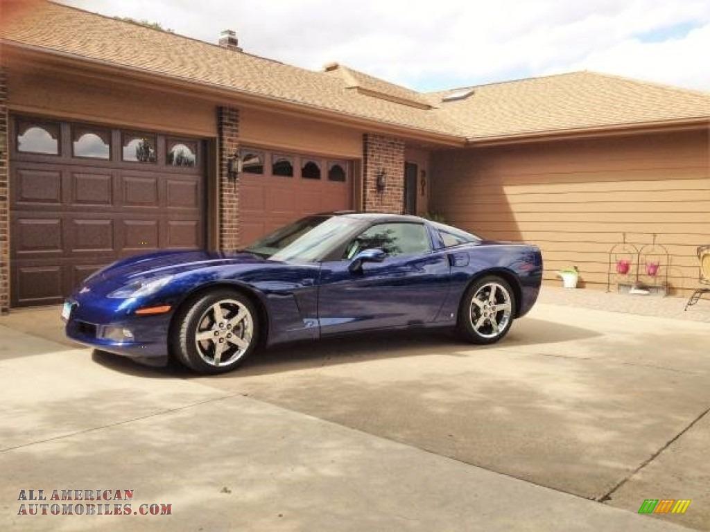 2007 Corvette Coupe - LeMans Blue Metallic / Titanium photo #1