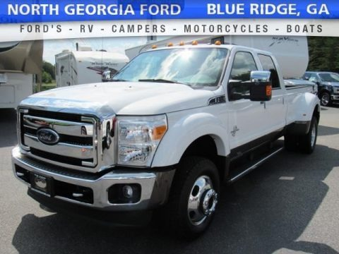 Oxford White 2016 Ford F350 Super Duty Lariat Crew Cab 4x4 DRW