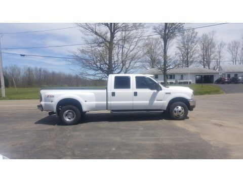 Oxford White 2003 Ford F350 Super Duty Lariat Crew Cab 4x4 Dually