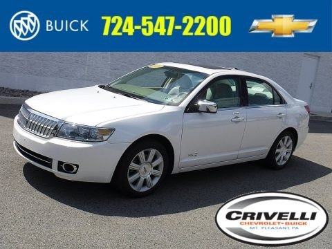 White Platinum Tri-Coat 2009 Lincoln MKZ Sedan