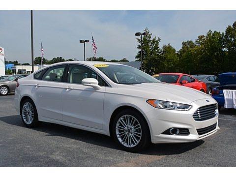 White Platinum 2014 Ford Fusion SE EcoBoost