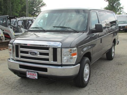Sterling Grey Metallic 2009 Ford E Series Van E350 Super Duty XLT Extended Passenger