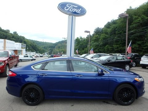 Deep Impact Blue Metallic 2016 Ford Fusion SE AWD