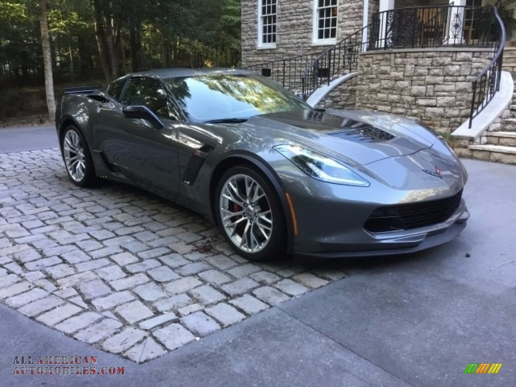 Shark Gray Metallic / Kalahari Chevrolet Corvette Z06 Coupe