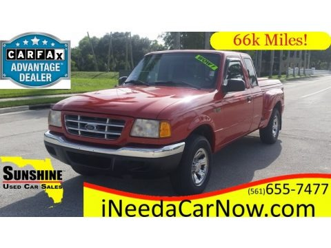 Bright Red 2001 Ford Ranger XL SuperCab