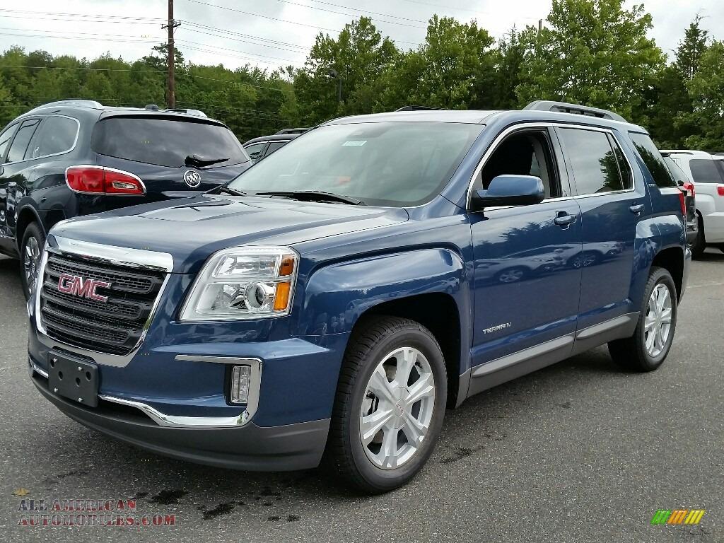 gmc terrain sle  slate blue metallic   american automobiles buy american