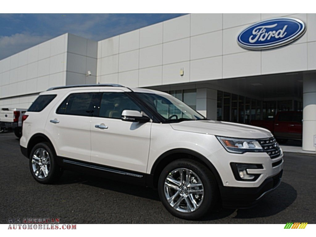 2017 ford explorer limited 4wd in white platinum a66815 all american automobiles buy. Black Bedroom Furniture Sets. Home Design Ideas