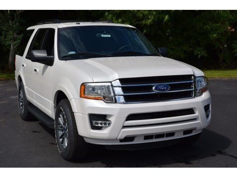 White Platinum 2017 Ford Expedition XLT