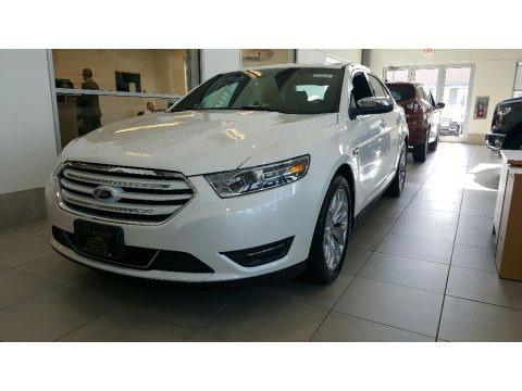 White Platinum 2016 Ford Taurus Limited