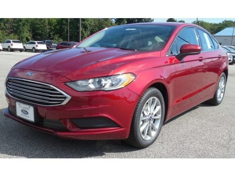 Ruby Red 2017 Ford Fusion SE