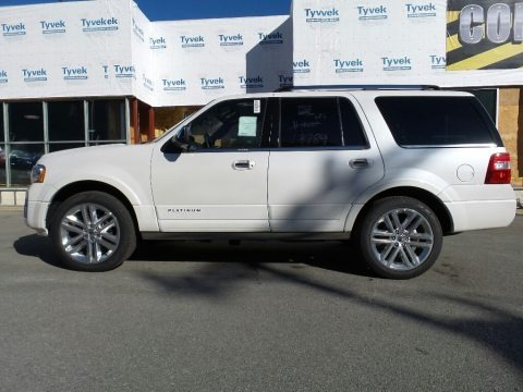 Oxford White 2017 Ford Expedition Platinum 4x4