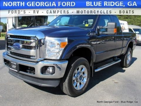 Blue Jeans 2015 Ford F350 Super Duty Lariat Super Cab 4x4