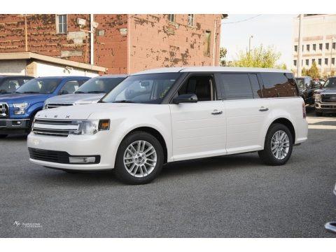 White Platinum 2016 Ford Flex SEL AWD