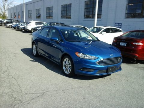 Lightning Blue 2017 Ford Fusion SE
