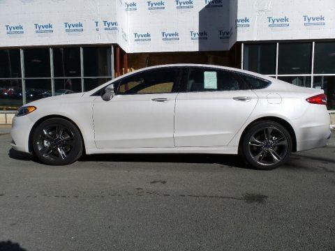 White Platinum 2017 Ford Fusion Sport AWD