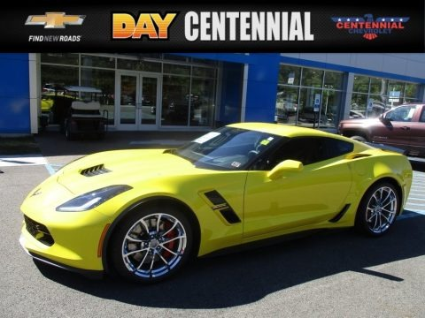 Corvette Racing Yellow Tintcoat 2017 Chevrolet Corvette Grand Sport Coupe