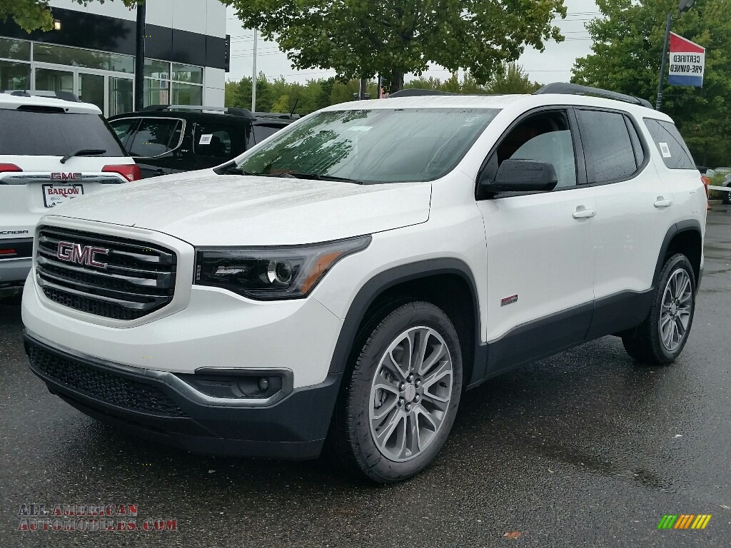 2017 gmc acadia all terrain slt awd in white frost tricoat 155418 all american automobiles. Black Bedroom Furniture Sets. Home Design Ideas
