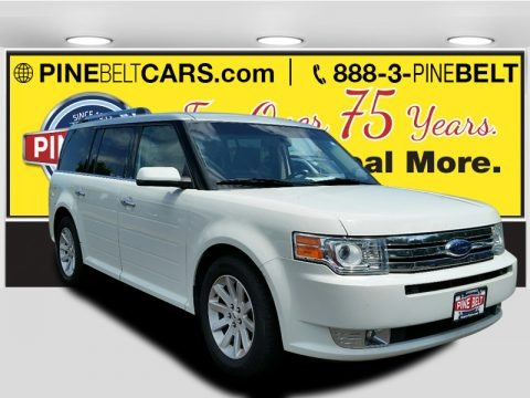 White Suede Clearcoat 2009 Ford Flex SEL AWD