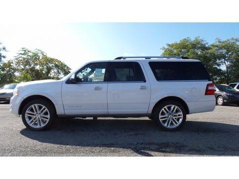 White Platinum 2017 Ford Expedition EL Platinum 4x4