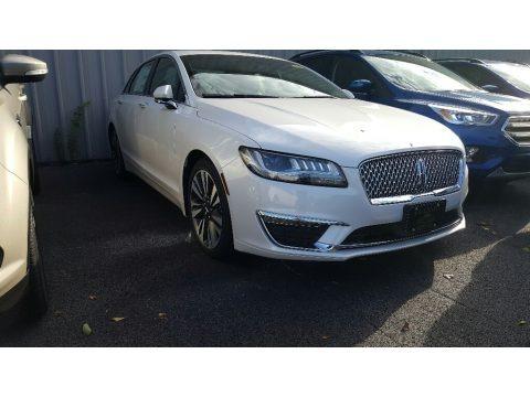 White Platinum 2017 Lincoln MKZ Select AWD