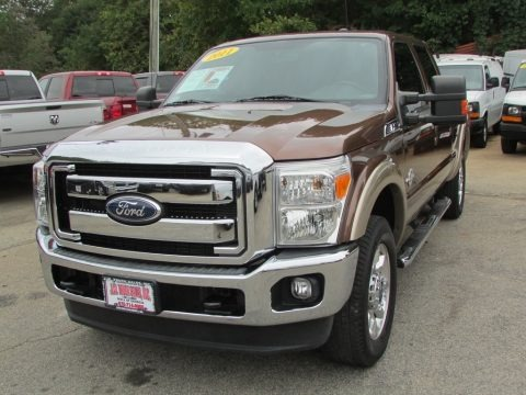 Golden Bronze Metallic 2011 Ford F250 Super Duty Lariat Crew Cab 4x4