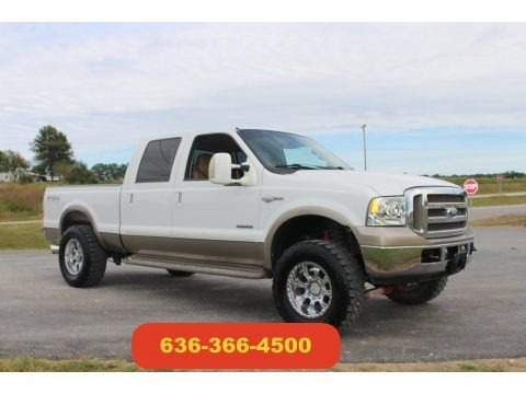 Oxford White 2005 Ford F250 Super Duty Lariat Crew Cab 4x4