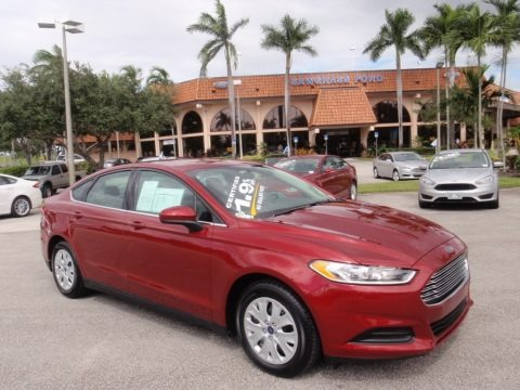 Ruby Red 2014 Ford Fusion S