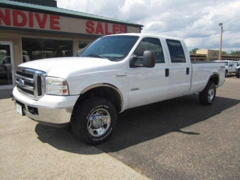 Oxford White 2006 Ford F250 Super Duty XLT Crew Cab 4x4