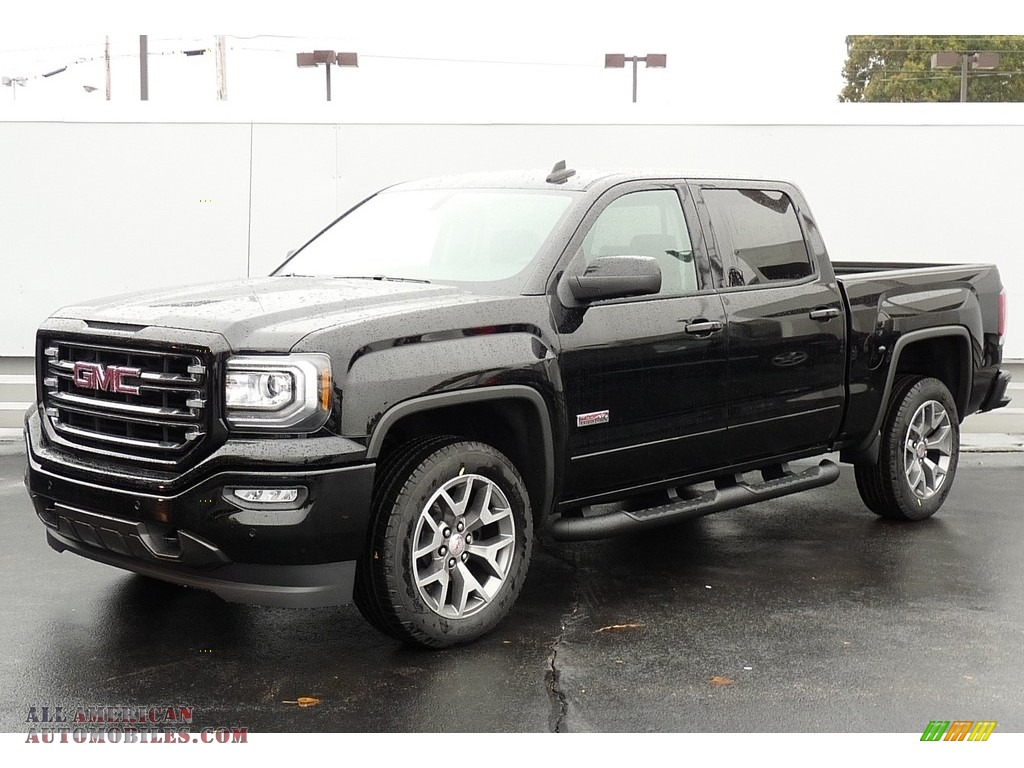 2017 gmc sierra 1500 slt crew cab 4wd all terrain package in onyx black 159359 all american. Black Bedroom Furniture Sets. Home Design Ideas