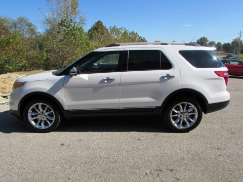 White Platinum 2014 Ford Explorer Limited 4WD