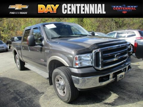 Dark Shadow Grey Metallic 2005 Ford F250 Super Duty Lariat Crew Cab 4x4