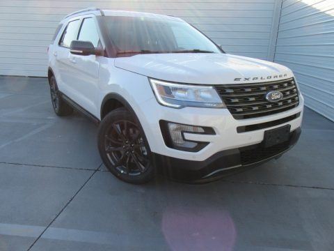 White Platinum 2017 Ford Explorer XLT