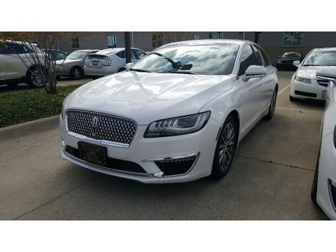 White Platinum 2017 Lincoln MKZ Premier Hybrid