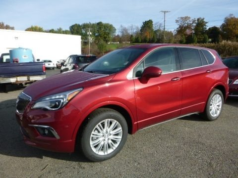 Chili Red Metallic 2017 Buick Envision Preferred AWD