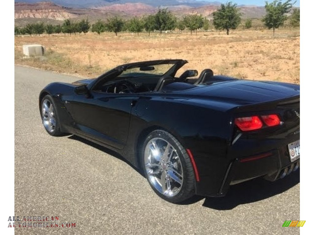 Black / Jet Black Chevrolet Corvette Stingray Convertible