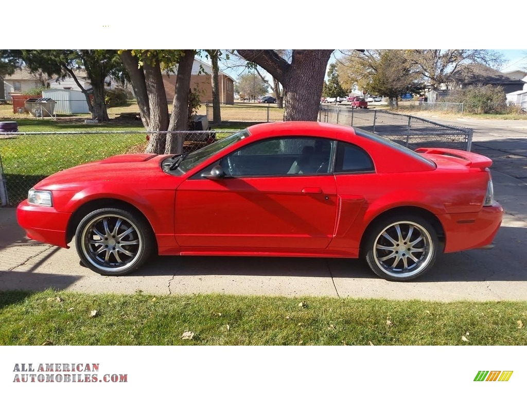 2001 Mustang GT Coupe - Performance Red / Medium Graphite photo #1