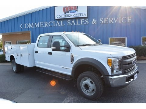 Oxford White 2017 Ford F450 Super Duty XL Crew Cab Chassis